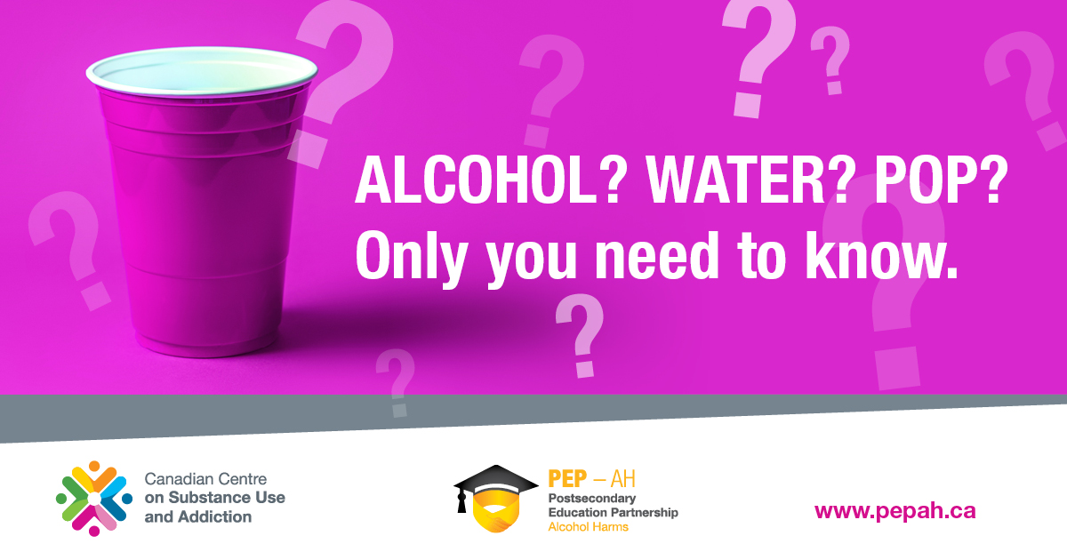 Alcohol? Water? Pop? Only you need to know.